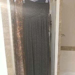 Black sheer sparkle dress